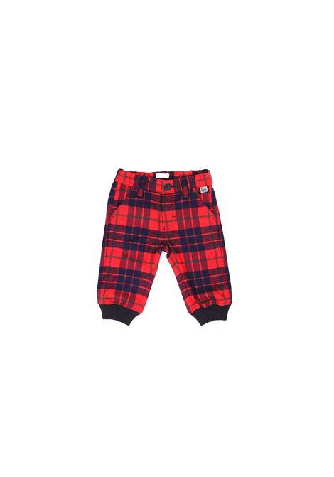 pantalone rosso fantasia quadri IL GUFO | Pantalone | A20PL050W30450743