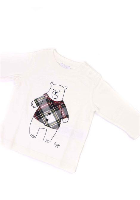 t-shirt bianco con orsetto IL GUFO   T-shirt   A20TA229M00941048