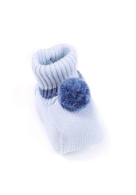 scarpina baby celeste con bordino blu MARLU | Scarpina | IP60SC412