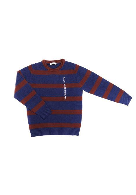 maglia blue e bordeux a strisce Paolo Pecora | Maglia | P2393ND