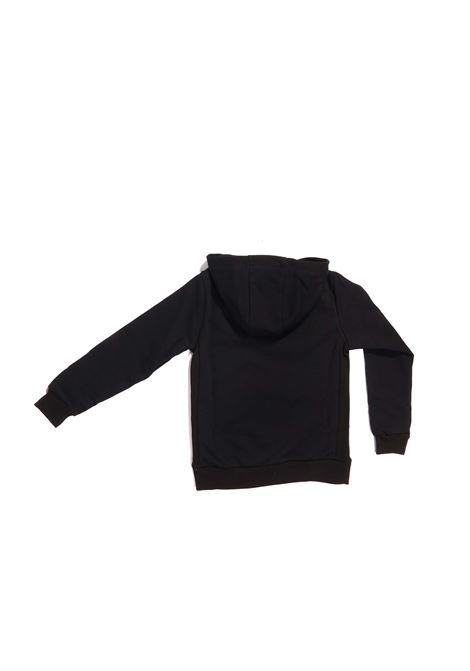felpa cappuccio nera con scritta bianca Paolo Pecora | Felpa | P2429NERO