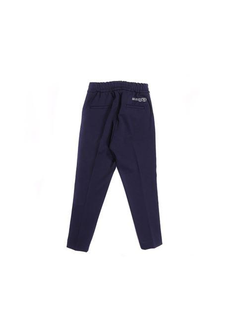pantalone blu con banda laterale Paolo Pecora   Pantalone   P2460BLU