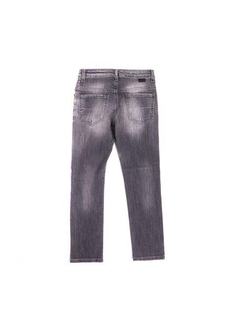 pantalone denim grigio Paolo Pecora | Pantalone | P2489NERO
