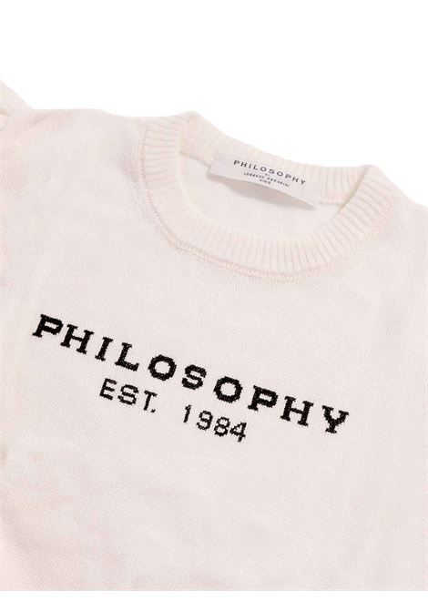 maglia giro collo con manica pieghe PHILOSOPHY | Maglia | PJM27-FL07-ZH0610291