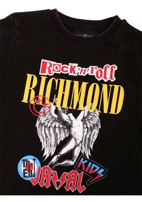 felpa nero con stampa RICHMOND | Felpa | RBA20120FEOFNERO