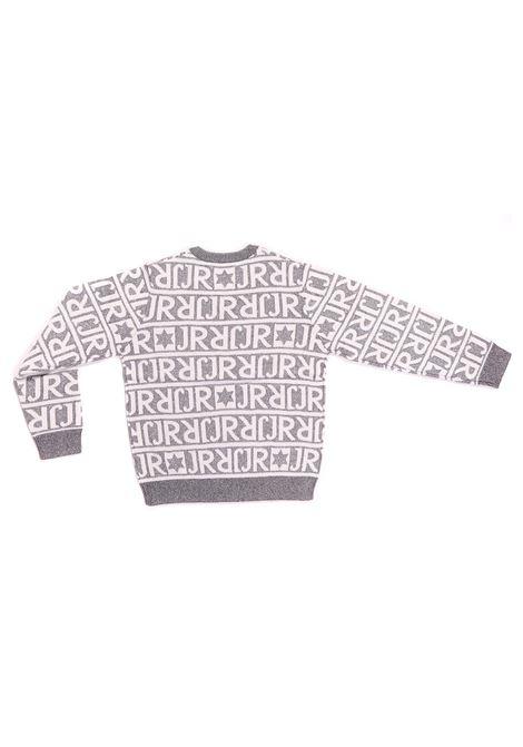 maglia fondo grigio con scritte bianche RICHMOND   Maglia   RGA20039MANFGRIGIO