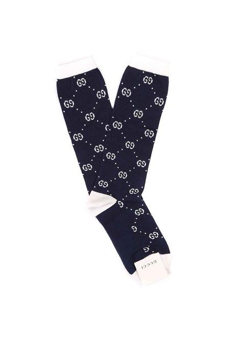 calzini fondo blu logati bianchi Gucci | Calzini | 503509 4K5414178