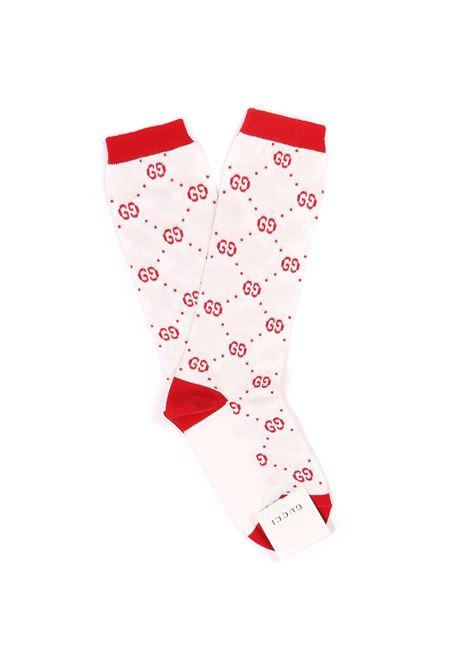 calzini fondo bianco logato rosso Gucci | Calzini | 503509 4K5419274
