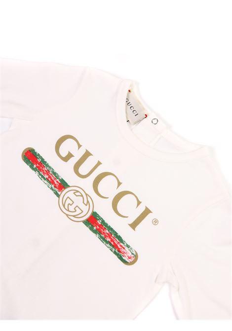 tutina bianco logo sul davanti Gucci | Tutina | 504123 X3L649112