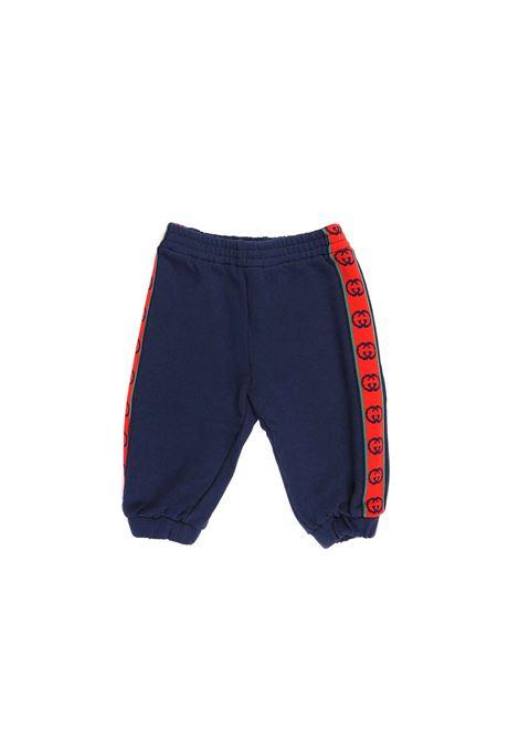 pantalone con banda laterale logo Gucci | Pantalone | 600054 XJB4P4843