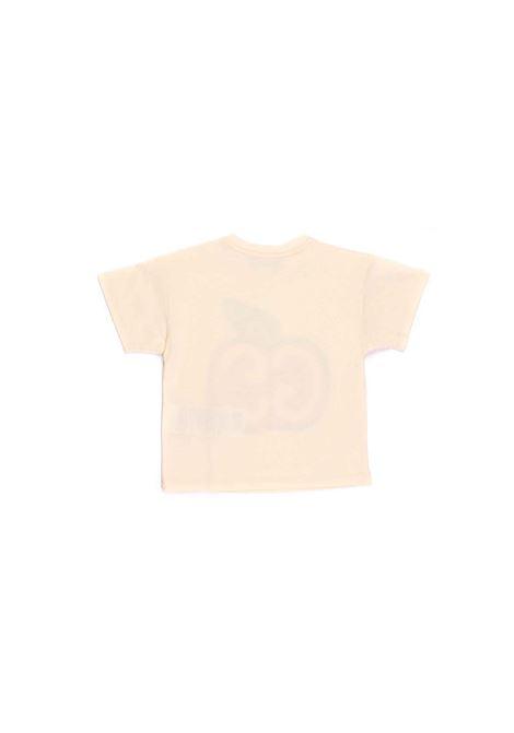 t-shirt com mela e logo Gucci | T-shirt | 609675 XJCBO9756