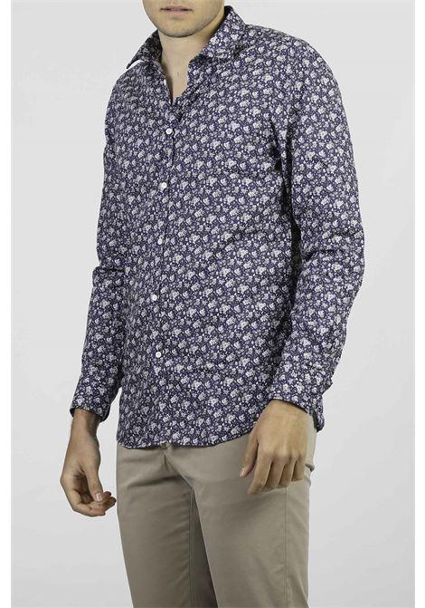 COTTON SHIRT AGLINI | Shirts | F829.303BLU/BCO
