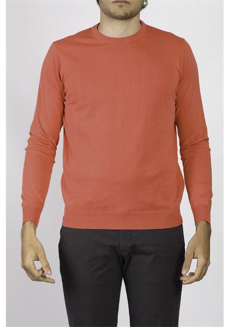 COTTON CREW NECK SWEATER FRANCESCO PIERI | Knitwear | FU51100FRAGOL