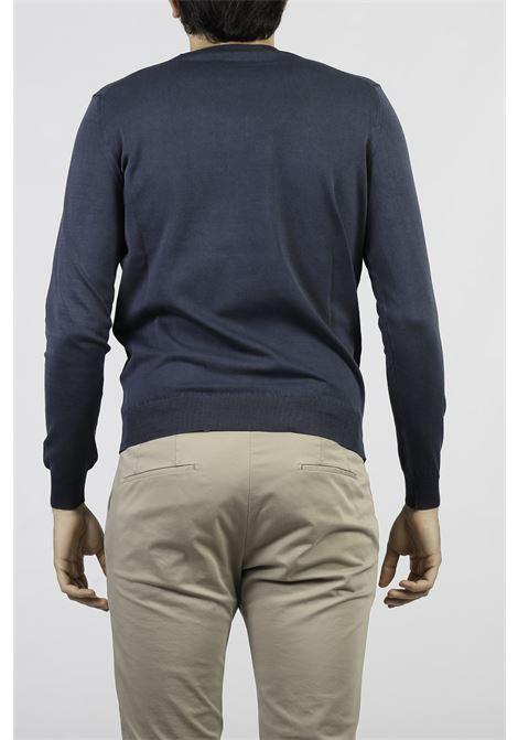 COTTON CREW NECK SWEATER FRANCESCO PIERI | Knitwear | FU51100NAVY