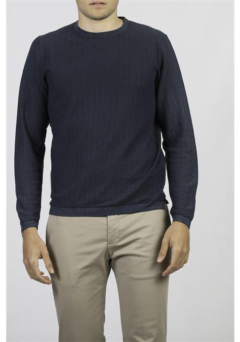 COTTON CREW NECK SWEATER FRANCESCO PIERI | Knitwear | FU51600NAVY