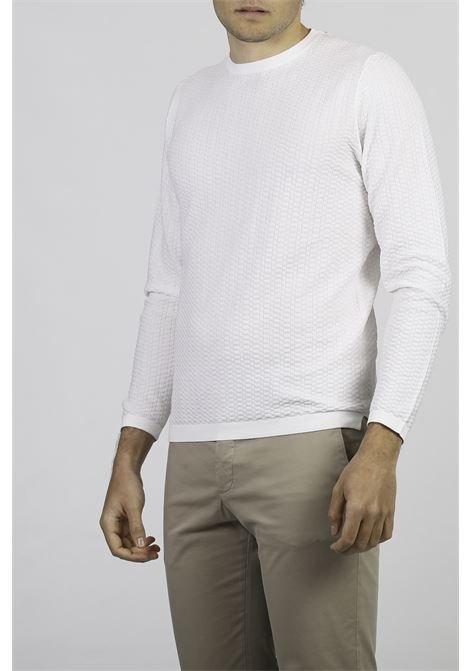 COTTON CREW NECK SWEATER FRANCESCO PIERI | Knitwear | FU51600OTTICO