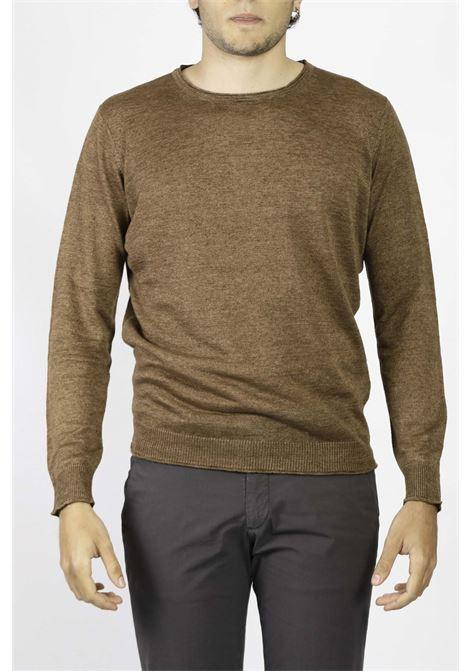 LINEN CREW NECK SWEATER KANGRA | Knitwear | 2013-0100361