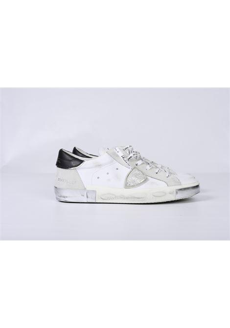 PRSX FOXY LAMINE' - BLANC ARGENT PHILIPPE MODEL | Shoes | PRLUMA02