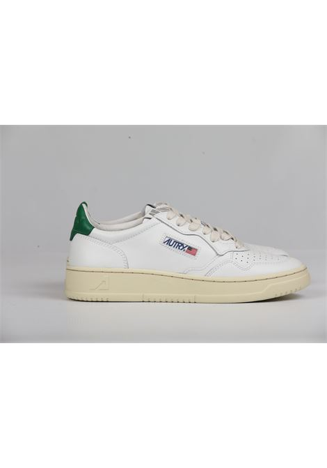 LOW MAN LEATHER WHITE GREEN AUTRY | Scarpe | AULMLL20