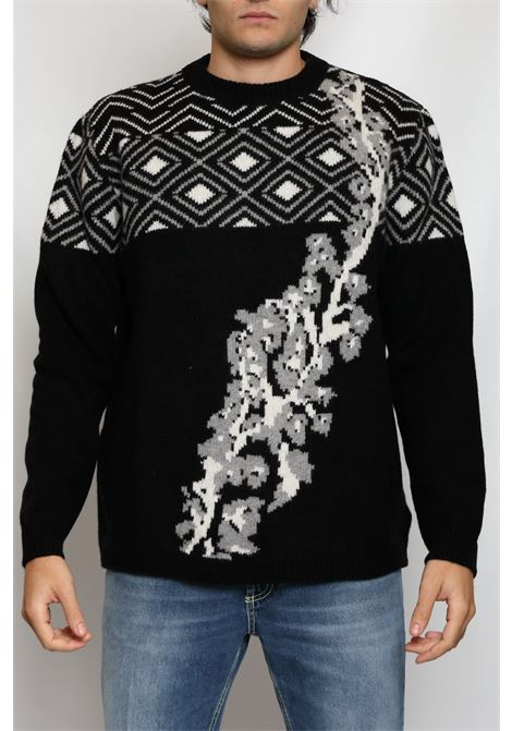 CACHEMIRE BLEND ROUNDNECK INTARSIO RAMAGE DANIELE FIESOLI | Knitwear | DF912013