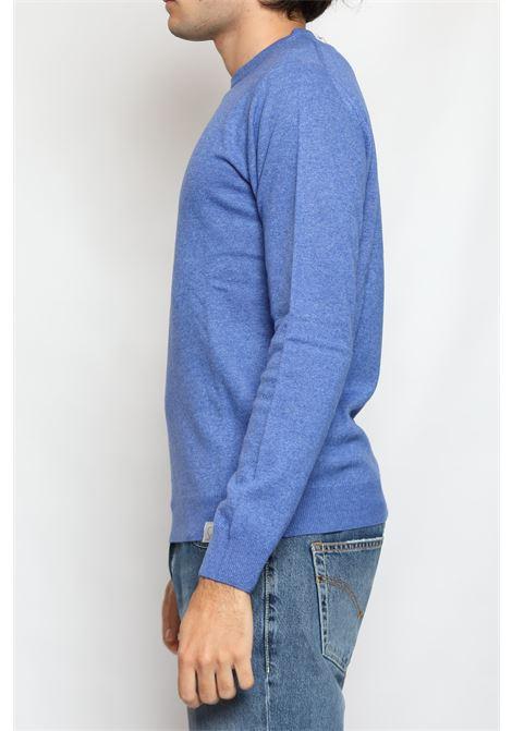 CACHEMIRE BLEND ROUNDNECK SWEATER SAPPHIRE DETWELVE | Knitwear | F-2281LR7117