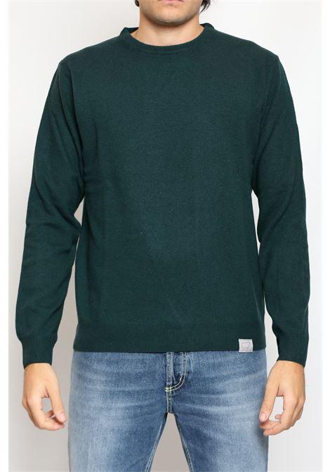 CACHEMIRE BLEND ROUNDNECK SWEATER GREEN DETWELVE | Knitwear | F-2281LR7238