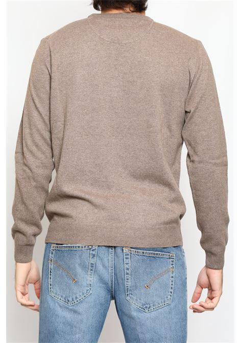 CACHEMIRE BLEND ROUNDNECK SWEATER WALNUT DETWELVE | Knitwear | F-2281LR7319