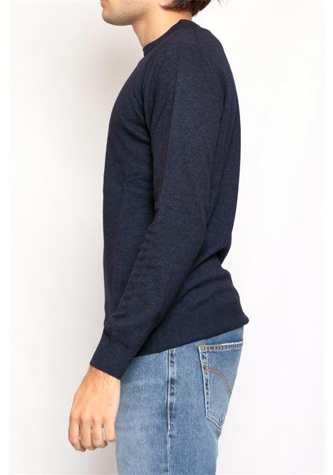 CACHEMIRE BLEND ROUNDNECK SWEATER BLUE DETWELVE | Knitwear | F-2281LR7814