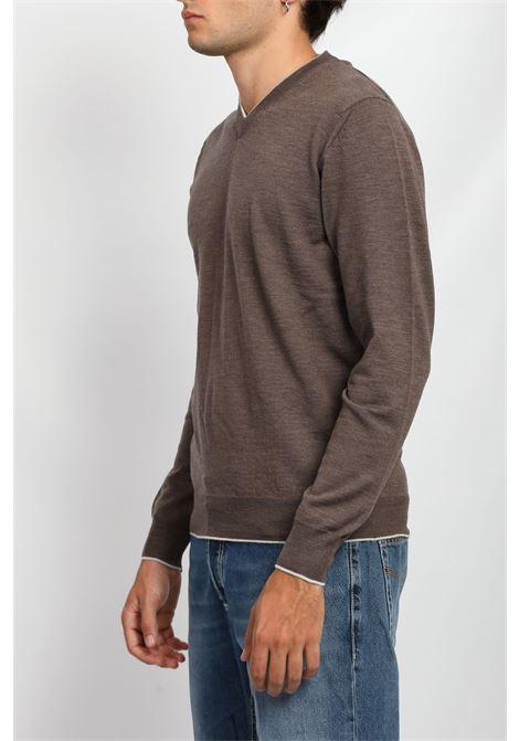 MERINO WOOL V-NECK SWEATER FRANCESCO PIERI | Knitwear | FU03601C421015