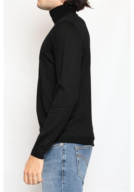 MERINO WOOL TURTLENECK BLACK FRANCESCO PIERI | Knitwear | FU03602099070