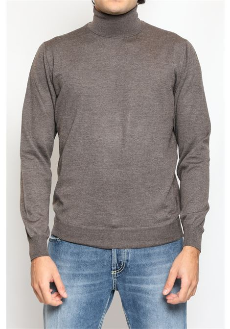 MERINO WOOL TURTLENECK TAUPE FRANCESCO PIERI | Knitwear | FU03602420942