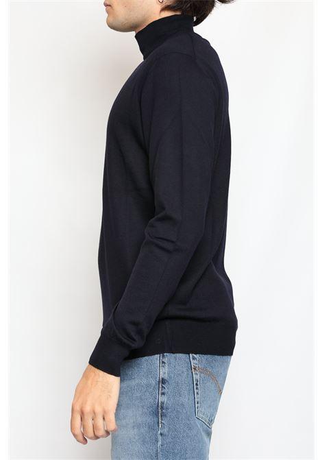 HALF NECK MERINOS WOOL BLUE FRANCESCO PIERI | Knitwear | FU03612008800