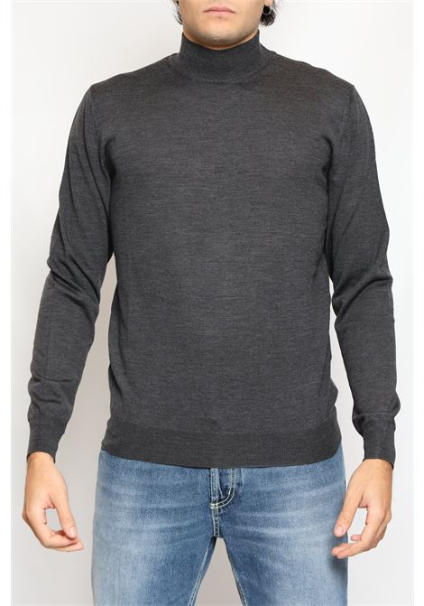 HALF NECK MERINOS WOOL GREY FRANCESCO PIERI | Knitwear | FU03612420426