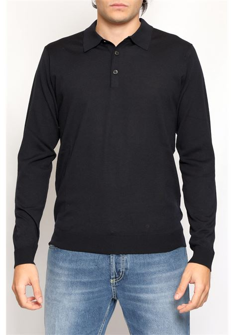 WOOL POLO BLUE JEORDIE'S | Polo | 30621400