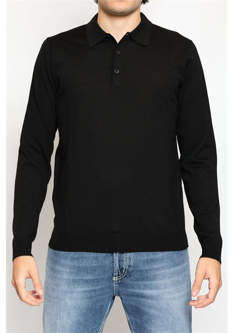 WOOL POLO BLACK JEORDIE'S | Polo | 30621999