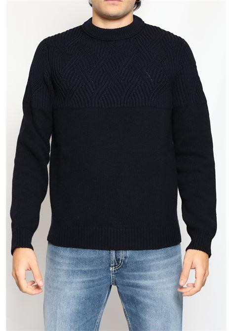 WOOL ROUNDNECK SWEATER BLUE JEORDIE'S | Knitwear | 85780407