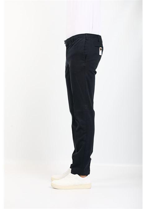 GABARDINE TROUSERS BLUE PT TORINO | Pants | KTZEZE00CL1-NU460369