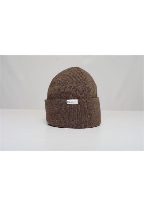 LUXE LOGO BEANIE HAT WOOLRICH | Hats | CFWOAC0127MRUF0600STAND