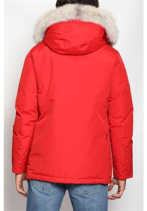 ARCTIC DETACHABLE FUR ANORAK RED WOOLRICH | Outerwear | CFWOOU0484MRUT0001MARINE SCARLET