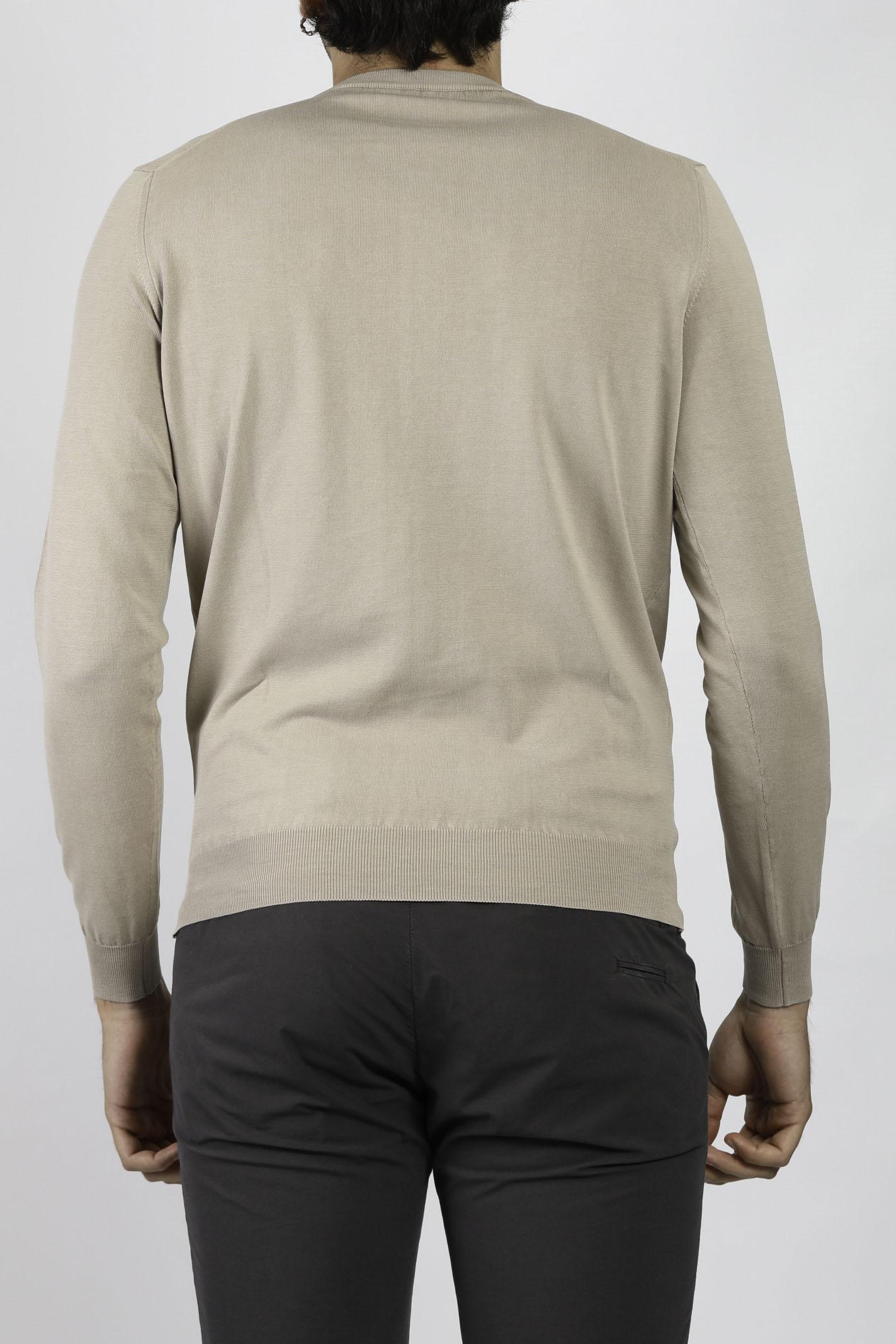 COTTON CREW NECK SWEATER FRANCESCO PIERI | Knitwear | FU51100JUTA