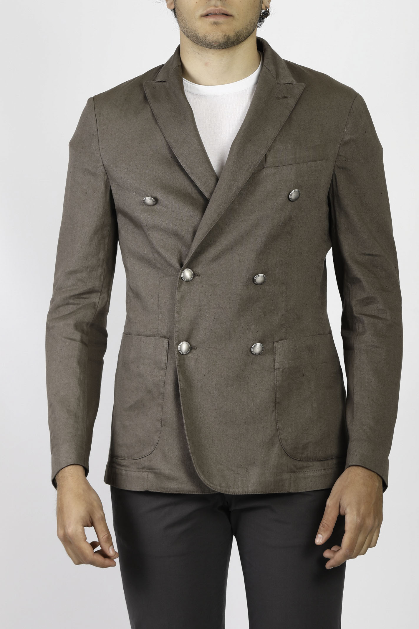 DOUBLE BREASTED LINEN JACKET JEORDIE'S | Jackets | 77198356