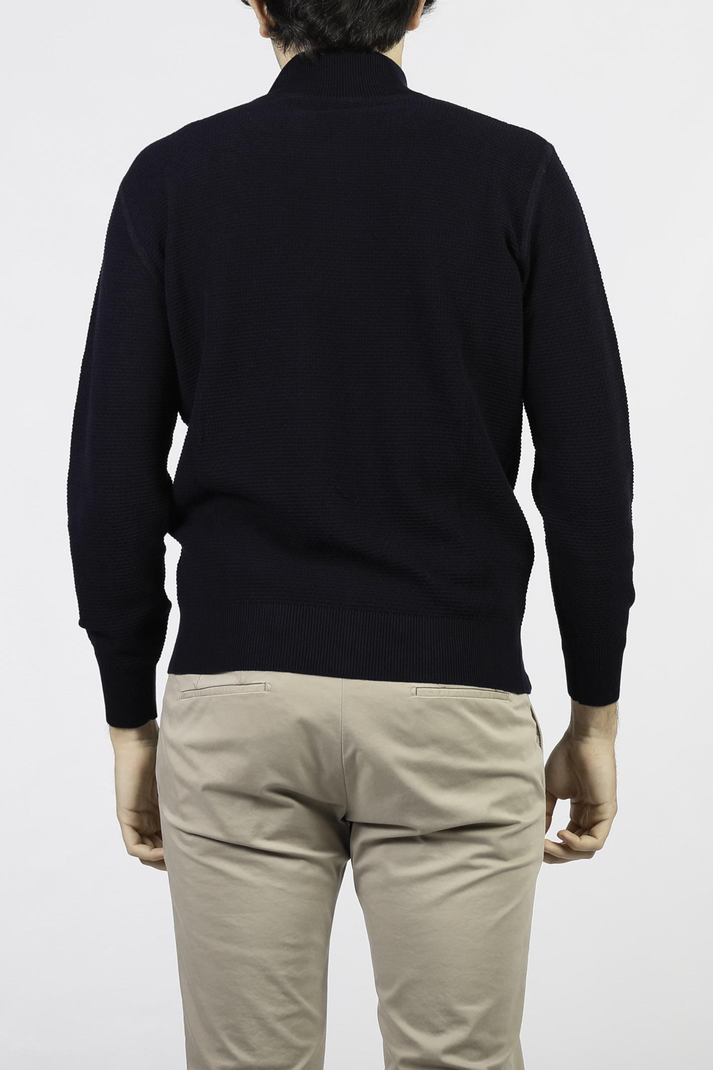 COTTON KNIT ZIP CARDIGAN KANGRA | Knitwear | 2003-0900038