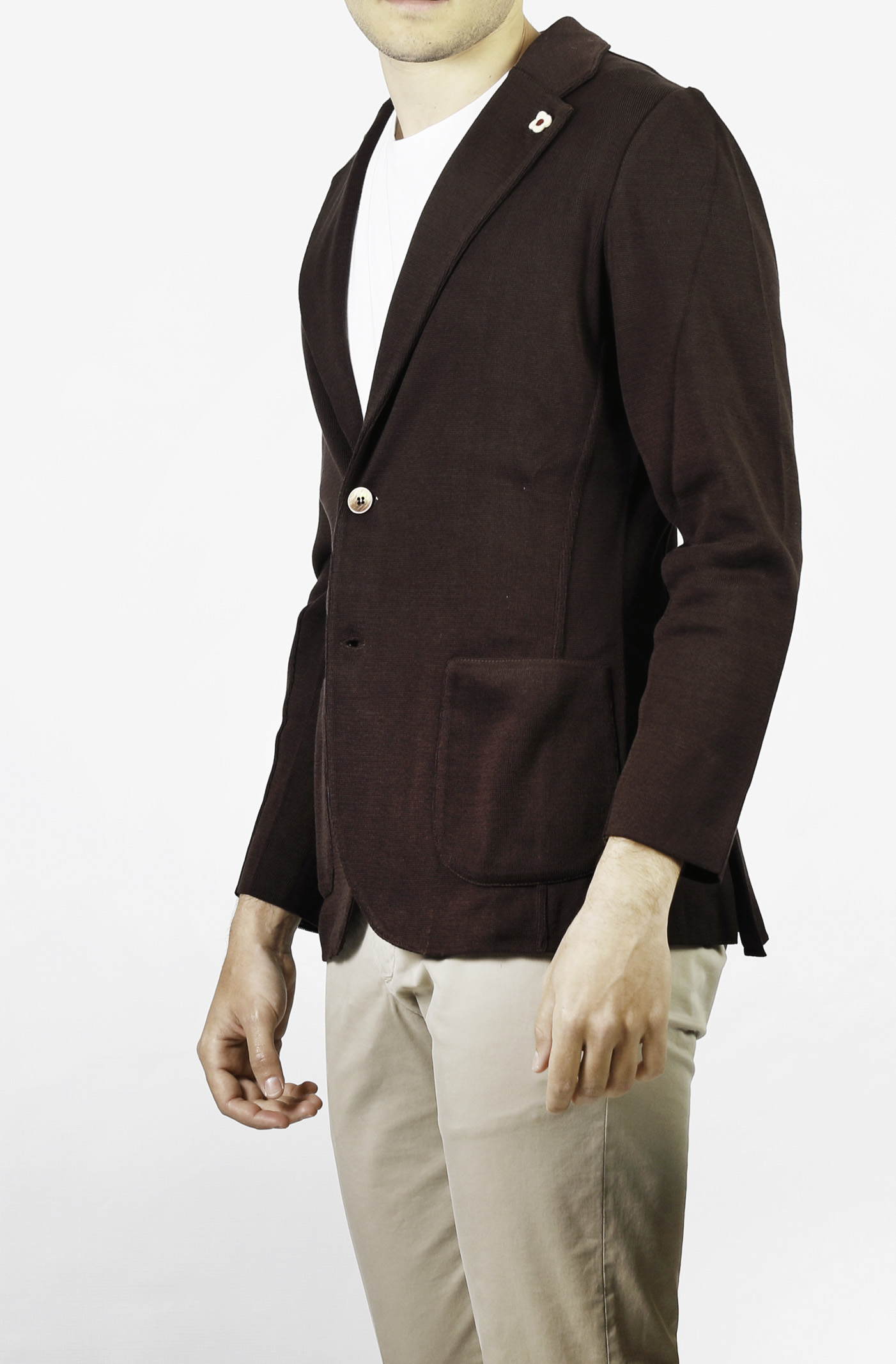COTTON KNIT JACKET LARDINI | Jackets | ELLJM56-EL56000450