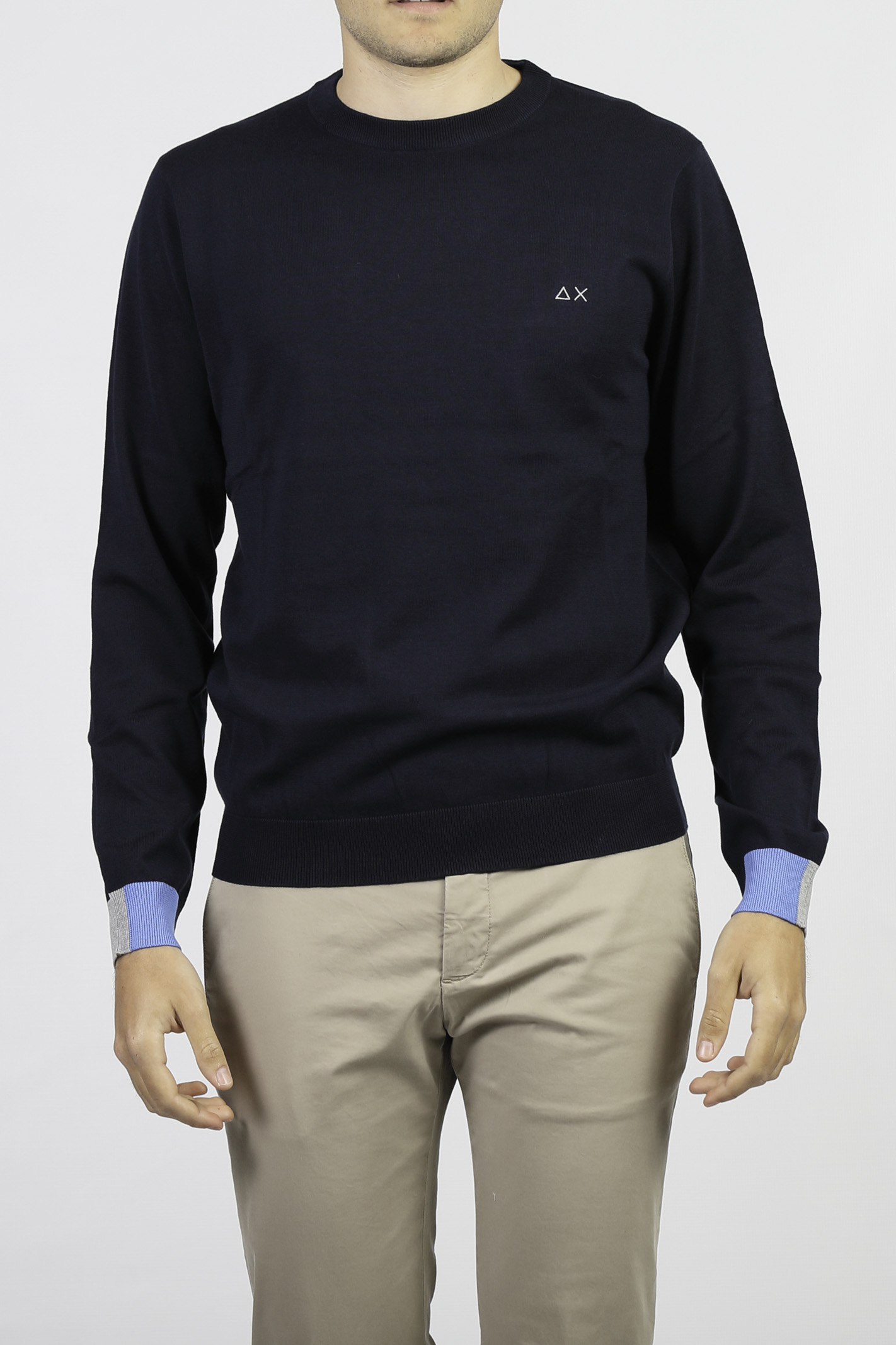 COTTON CREW NECK SWEATER SUN 68   Knitwear   K3110607