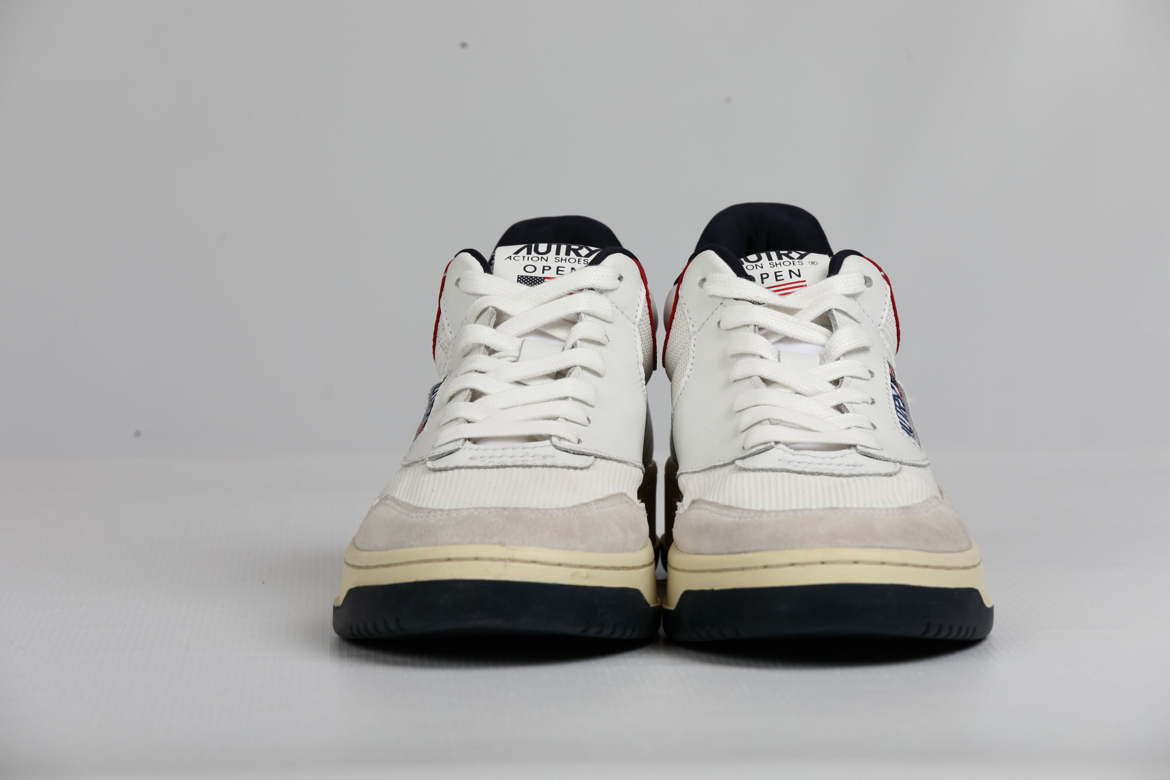 MID OPEN WHITE USA AUTRY | Shoes | AOMMCE05
