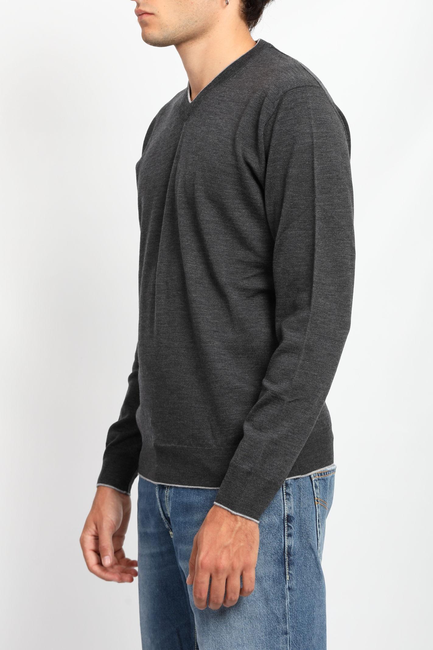 MERINO WOOL V-NECK SWEATER FRANCESCO PIERI | Knitwear | FU03601C420426