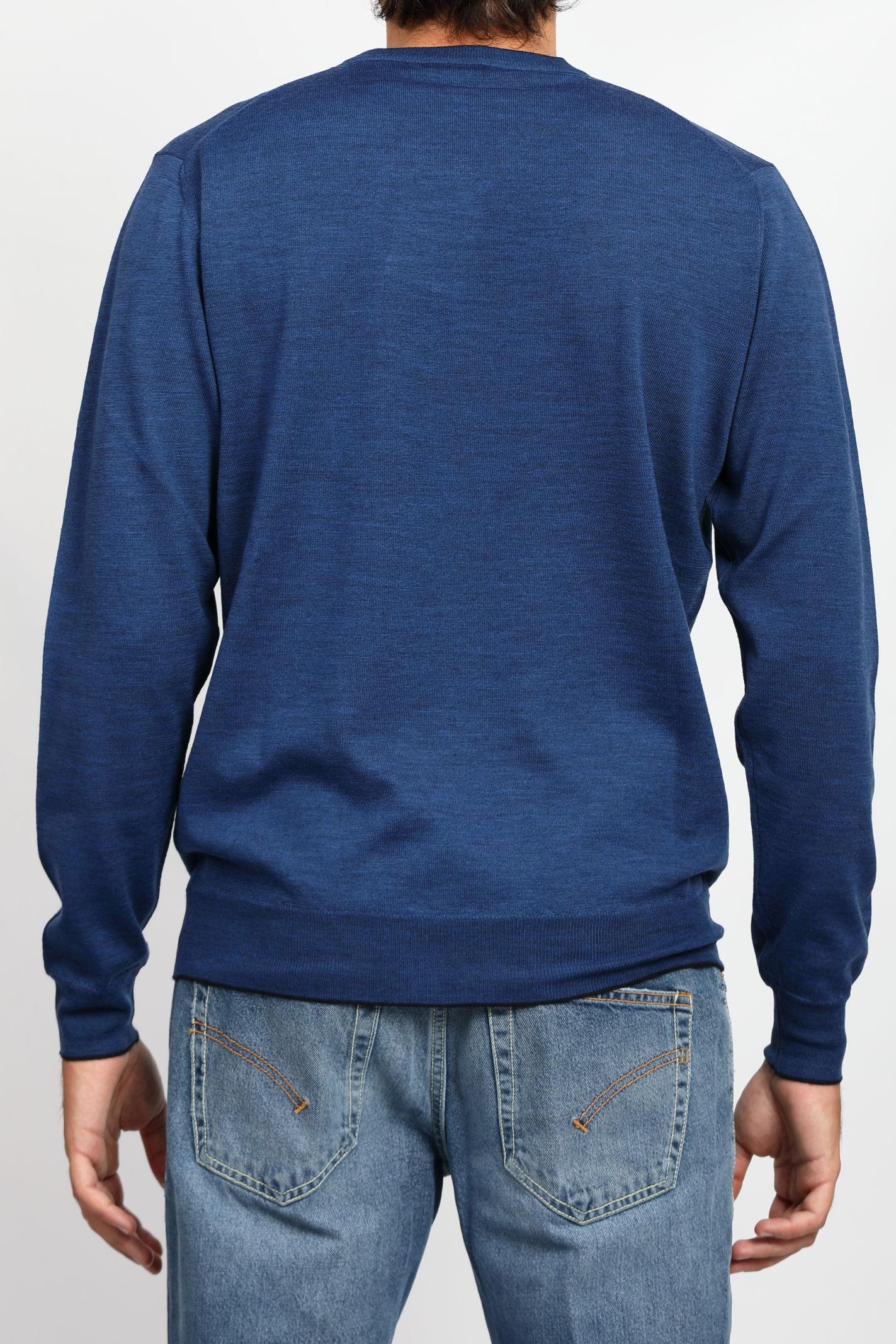 MERINO WOOL V-NECK SWEATER FRANCESCO PIERI | Knitwear | FU03601C441702