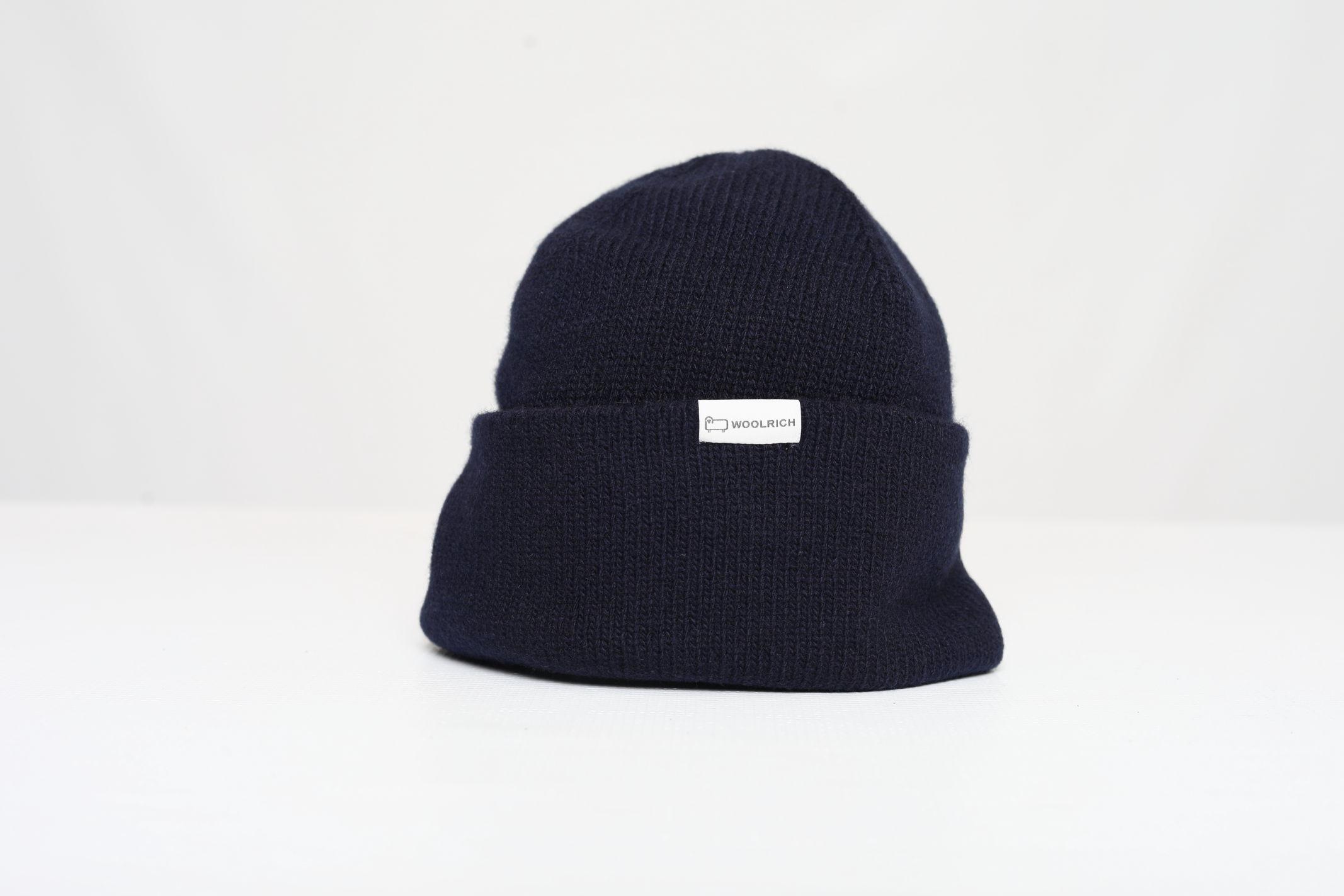LUXE LOGO BEANIE HAT WOOLRICH | Cappelli | CFWOAC0127MRUF0600MELTON BLUE