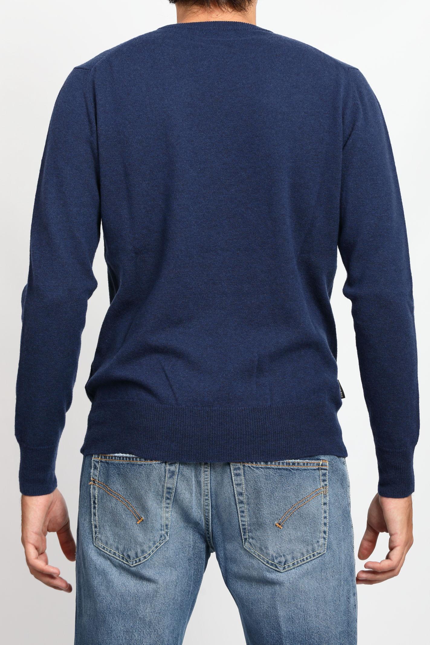 SUPERGEELONG CREWNECK WOOLRICH | Knitwear | CFWOKN0120MRUF0560BLUE IRON