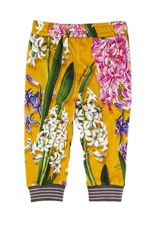 Jogging pants in cotton fleece with Hyacinth print. Colore  fiori. Product   L2JP4FG7QDMBHOS49 Availability  In stock 68e0251a2cd